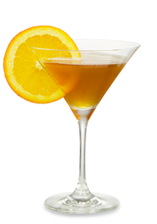 Black & Orange Martini