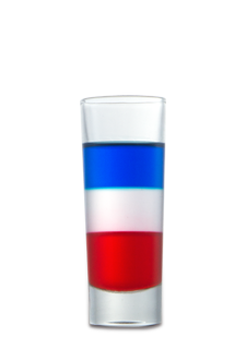 Red, White, and Blue Shot