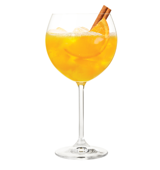 Cinnamon Peach Bellini